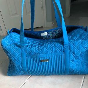 Vera Bradley large duffle in Coastal Blue